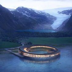 "Snøhetta unveils ""Svart"", the Arctic Circle's first energy-positive hotel Floating Architecture, Hotel Architecture, Architecture Design, Kinetic Architecture, Classical Architecture, Ancient Architecture, Sustainable Architecture, Amazing Architecture, Landscape Architecture"