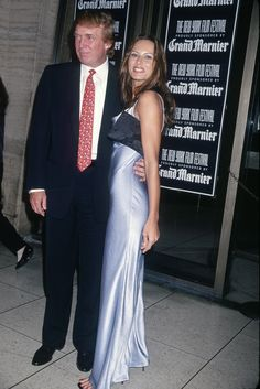 Portrait of American businessman Donald Trump and Melania Knauss (born Melanija Knavs) as they attend the New York Film Festival at Lincoln Center, New York, New York, 1998. (Photo by Rose Hartman/Getty Images) via @AOL_Lifestyle Read more: http://www.aol.com/article/lifestyle/2016/11/10/melania-trump-style-/21603454/?a_dgi=aolshare_pinterest#fullscreen