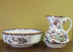 Antique Basin and Pitcher Set