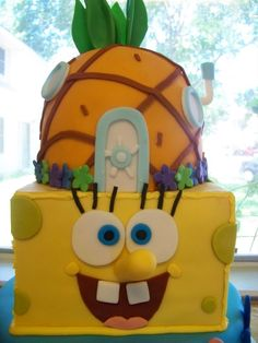 spongebob squarepants cake - Google Search