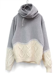 just add a sweater bottom to the sweatshirt toknitsp and you are done!!