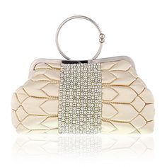 Damara Womens Quilted Wedding Tote with Exquisite Clasp