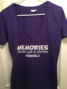 a33bf2aad Alzheimers Deep V Juniors Ladies Shirt #EndAlz by VividLegacy on Etsy  https://