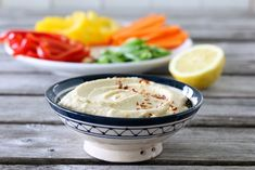 KREMET BØNNEDIP MED HVITLØK | TRINES MATBLOGG Hummus, Juice, Pudding, Snacks, Ethnic Recipes, Desserts, Smoothie, Food, Homemade Hummus