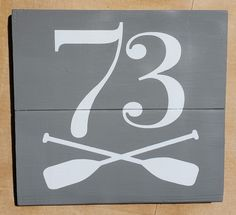 """12""""×12"""" pallet sign painted with chalk paint and coated with a protective layer of matte enamel. House Address Sign, Address Signs, Pallet Signs, Painted Signs, Chalk Paint, Enamel, Farmhouse, Symbols, Letters"""