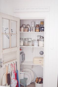 pantry closet -- need to replace door with a neat one like this