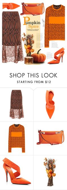 """""""Pumpkin Spice"""" by sara-cdth ❤ liked on Polyvore featuring Ginger & Smart, Versace and Loewe"""
