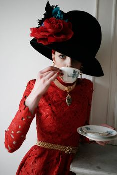 I'd wear this. All of it- Even the tea cup...not the saucer though, I mean, lets not get carried away.