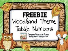 FREEBIE!!! Perfect for a woodland themed classroom. Just print, laminate, and display.