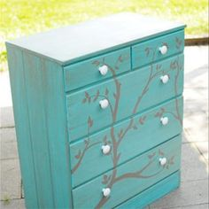 Redecorate your dresser with this tutorial, plus find other DIY crafts and recipes...