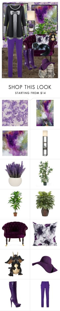 """Deep Purple Atmosphere"" by april-wilson-nolen ❤ liked on Polyvore featuring Designers Guild, Threshold, Nearly Natural, Haute House and Emilio Pucci"