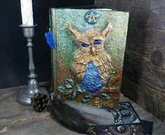 Old book of shadows with blank pages/Grimoire Pagan Altar, Wiccan, Diary Book, Blank Page, Magic Book, Old Books, Book Of Shadows, New Beginnings, Celtic