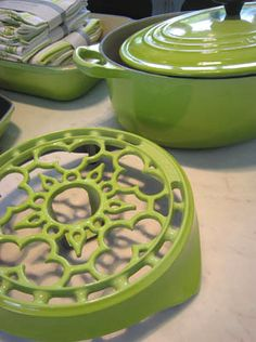 Love The Lime Green Le Creuset My Favorite Color Is Now In