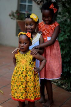Orange African print shwe shwe little girls summer dress - special spring dress or party dress -Girls fashion dress - Sleeveless girls by JaxStarClothing on Etsy Little Girl Summer Dresses, Girls Party Dress, Little Girls, Girls Dresses, Ethnic Fashion, Girl Fashion, Fashion Dresses, African, Orange