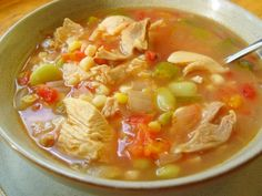 CHICKEN VEGETABLE SOUP. You cant help it, youre meat eater at heart and soup just isn;t soup for you unless it has some hearty meat in. Satisfy your carnivorous taste buds while still getting a healthy dose of vegetables with this chicken veggie soup from.