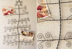 Curly Wire Tree Card Holder - Our curly wire tree card holder helps you show off your favorite greeting cards and treasured photos. Hang it in any room to introduce some fun holiday style!