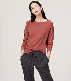 Image of Lace Paneled Sweater
