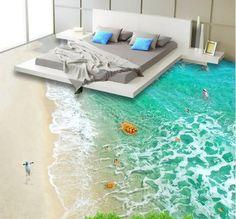 Beach Animals Floor Mural - AJ Walls - 2 - Ausblicke - Welcome Haar Design 3d Floor Art, Floor Murals, Wall Murals, Sol 3d, Floor Design, House Design, Floor Wallpaper, Wallpaper Murals, Wallpaper Stairs