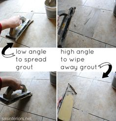 Tips on how to install and grout vinyl tile via sasinteriors.net