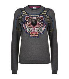 KENZO Icon Tiger Embellished Sweatshirt. #kenzo #cloth #