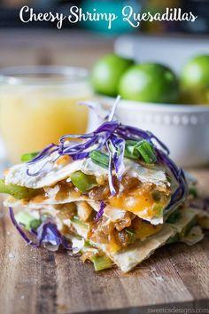 Cheesy Shrimp Quesadillas