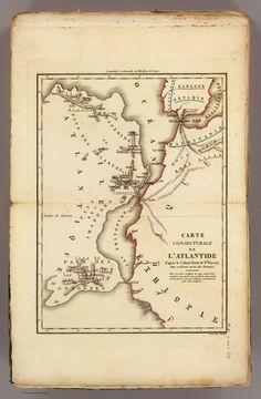 Carte conjecturale de l'Atlantide : d'après le Colonel Bory de St. Vincent = conjectural map of Atlantis, 1827