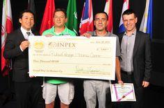 InventHelp's INPEX 2014 - AWARD WINNERS:   Richard Persinger & Thomas Connor -- www.InventHelp.com -- www.INPEX.com -- #Invent #Help #Invention #Innovation #InventHelp #Award #Winners #Check