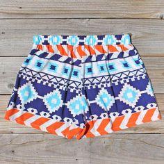 The Billy Native Shorts in Blue, Women's Sweet Bohemian Clothing on Wanelo