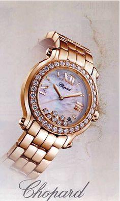 Chopard gold & diamond watch