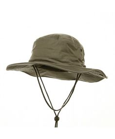 d7f91af80b3c4e BRUSHED TWILL AUSSIE HAT WITH SIDE SNAPS AND CHIN CORD Khaki CB11BXYEVF9