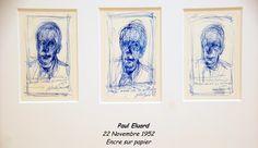 """Alberto Giacometti - 4 juin au 1 novembre 2015 - Aux Capucins / Landerneau. En 1952, il dessine une série intime de portraits et de bouquets, """" En pensant à Eluard"""", dont les obsèques viennent d'avoir lieu."""
