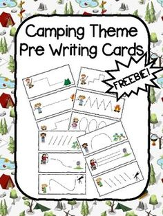 Camping Pre Writing Cards by ElemenoPreK | Teachers Pay Teachers Time Activities, Pre Writing, Camping Theme, Morning Work, Dry Erase Markers, Teacher Pay Teachers, Teaching, Cards, Education