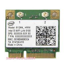 New original Wireless Card For Intel wifi Link 5100 512ANHMW Half Mini PCI-E 802.11b/g/n 2.4G/5Ghz card #Affiliate