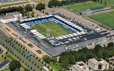 MAC3Park stadion zwolle (PEC Zwolle) Football Stadiums, European Football, Baseball Field, Mansions, Park, House Styles, Soccer Stadium, Manor Houses, Villas