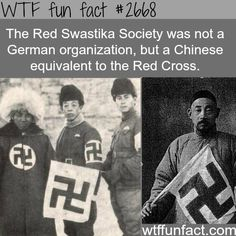 "The ""Swastika"" was originally a tibetan good luck charm, it was the Nazis that turned it into a terrible thing."