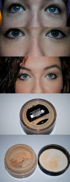The best concealer/corrector for dark eye circles and even freckles! #bareminerals #makeup #howto #beauty #concealer #darkcirlces