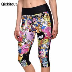 Summer styles Sexy 2016 women's 7 point pants Animation adventure time digital print women high waist Side pocket phone pants  Only $19.99 => Save up to 60% and Free Shipping => Order Now!  #print leggings outfit #dress #Fashion #girl #Digital #sport #yoga