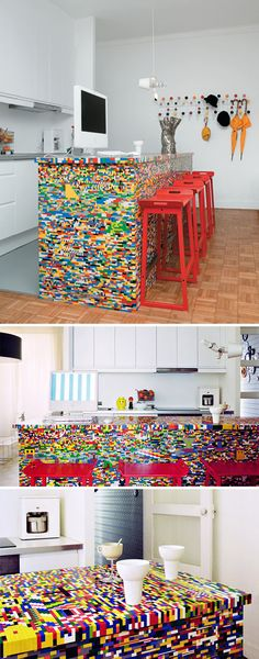 Simon Pillard and Philippe Rossettis Lego kitchen