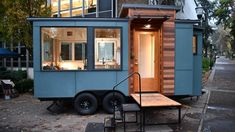 The Verve Lux Tiny House with Toilet Bump Out Over Tongue!