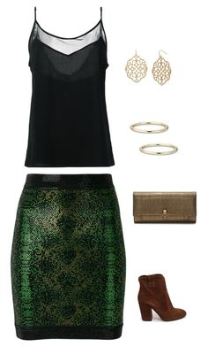 """""""Untitled #1785"""" by netteskytte on Polyvore featuring Strategia, Balmain, Olympiah, Alexander McQueen, Bold Elements and Blue Nile"""