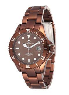 Ladies Chocolate Metallic Watch