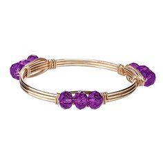 Gameday Purple Wrapped Wire Bracelet | underthecarolinamoon.com