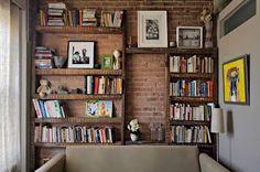Modelos de estantes rústicas para os seus livros ~ Bibliotecas do Brasil