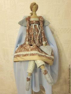 Куклы Тильды ручной работы. Ярмарка Мастеров - ручная работа Винтажный ангел Анни. Handmade.