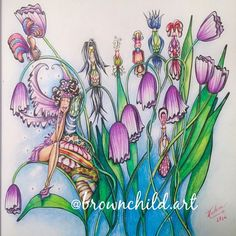 I absolutely LOVE Denyse Klette's coloring book- Fairies in Dreamland!!!! I can't stop coloring in it! What a superb artist!!! What do you think of how I colored this page?  #fairiesindreamlandcolouringbook, #denysekletteart,