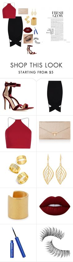 """Sem título #35"" by laurenmello-473 on Polyvore featuring moda, Gianvito Rossi, Boohoo, Accessorize, BaubleBar, Steve Madden, Maya Magal, Lime Crime e Trish McEvoy"
