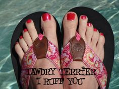 "@TawdryTerrier ""I Ruff You"" - 2 bottles available at https://www.etsy.com/shop/TawdryTerrier #nailpolish #indienailpolish #valentinesday #tawdryterrier"