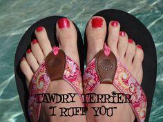 "@TawdryTerrier ""I Ruff You"" - 2 bottles available at https://www.etsy.com/shop/TawdryTerrier #nailpolish #indienailpolish #valentinesday #tawdryterrier"