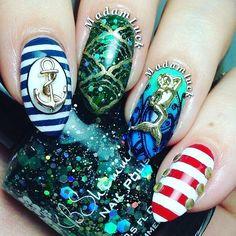Gorgeous Mermaid nails! #mermaidnails #mermaidlife #mermaid #royalmermaid