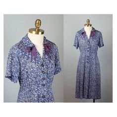 1940s Painterly Print Dress // Vintage Rayon by waywardcollection, $80.00